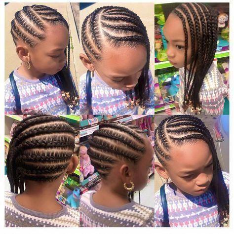 Beautiful Natural Hairstyles For Short Hair Naturalhairstylesforshorthair Girls Natural Hairstyles Kids Braided Hairstyles Braids For Kids