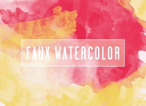 Faux Watercolor photoshop brushes