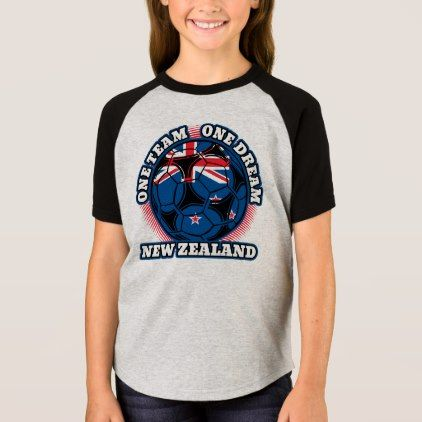 New Zealand Soccer One Team One Dream T-Shirt - personalize custom customizable