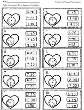 Time, Arrays, Four in A Row, Greater than Less Than. Common Core- (Time is to the hour, half hour, quarter hour, and five minutes)  You're all set for February !