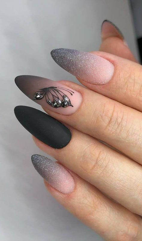 35+ Best and Playful Glitter Nails Design Ideas in This Week   Page 17 of 35 #glitter #ideas #nail #nailart