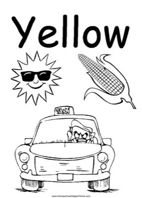 Colors Yellow Worksheet Homeschool Helper Online Preschool Colors Color Worksheets For Preschool Preschool Coloring Pages