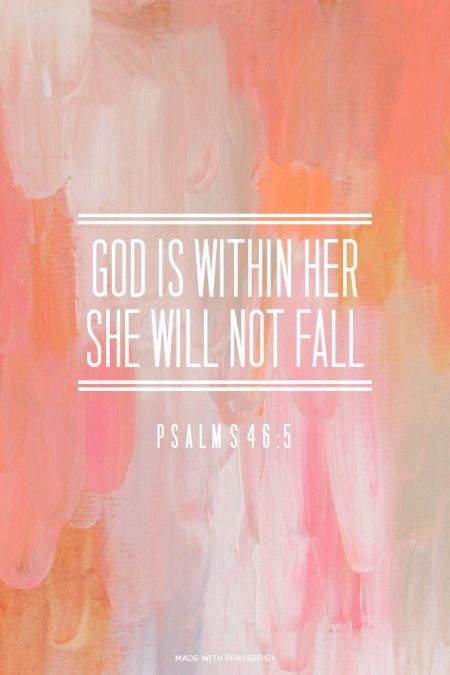 He is mighty and all controlling. With him in my corner I am unstoppable. There is peace in faith.