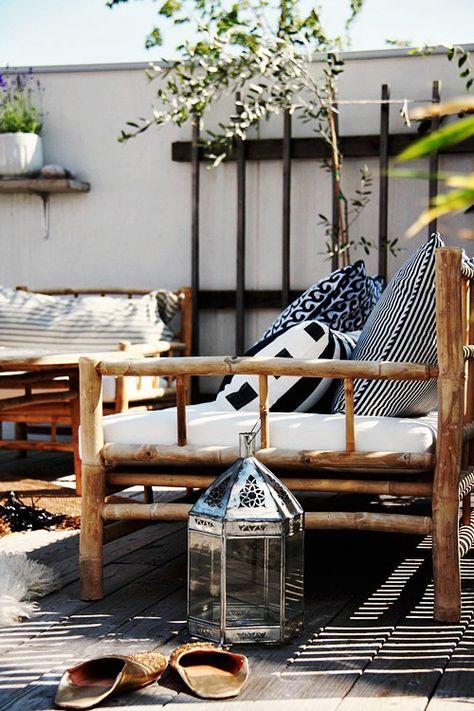 Usar bambu na área externa. Sustentável, durável e lindo ...