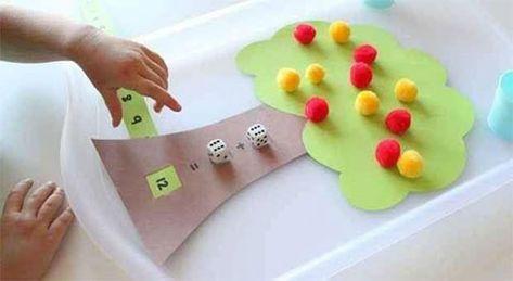 وسائل تعليمية لرياض الاطفال لتعليم الجمع أنشطة منتسوري بالعربي نتعلم Addition Games Math Games For Kids Matching Games