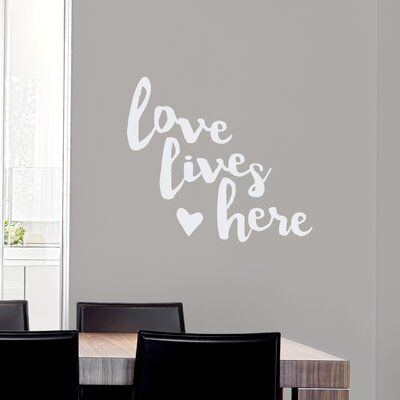 Wallums Wall Decor Love Lives Here