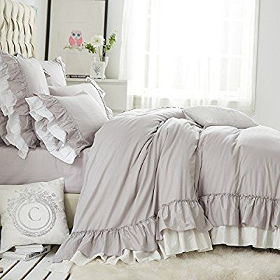 Amazon Com Queen S House Cotton Duvet Cover Taupe Bedding Set King Size Home Kitchen Rustic Bedding Sets Farmhouse Bedding Sets Farmhouse Bedding