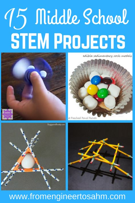 engineer projects middle school stem from stay home mom 15 to at 15 Middle School STEM Projects From Engineer to Stay at Home MomYou can find Middle school science and more on our website Middle School Science Projects, Middle School Crafts, Middle School Boys, Middle School Activities, Middle School Classroom, Middle School Stem, Education Middle School, School Grades, Public School