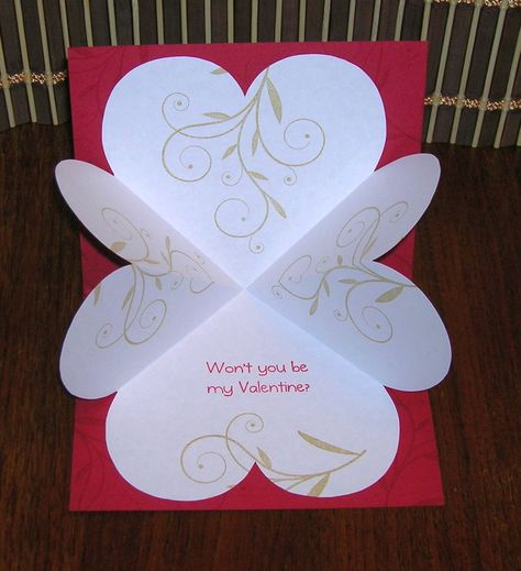 Heart Explosion Card Tutorial via Victorine StampsDIY Card : DIY: Heart Explosion Card Great Template and instructions!Here's a fun card to make. It's a classic explosion card, but uses heart shapes. This is a great card for Valentine's Day. Pop Up Cards, Love Cards, Diy Cards, Valentines Day Cards Handmade, Valentines Diy, Pop Up Valentine Cards, Valentine Nails, Karten Diy, Shaped Cards