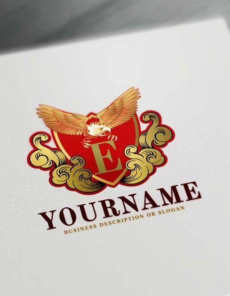 Free Vintage Eagle Logo Creator Online Eagle Logos Pet Logo Design Vintage Logo Design Logo Design Free