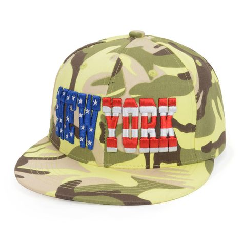 Cotton Letters Embroidered NEW YORK Hip Hop Cap Camouflage Snapbacks Caps  Camo Sun Hat For Men Women 43830b016859