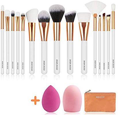 Amazon Com Babi Bear 15 Pcs Makeup Brushes Set Premium Synthetic