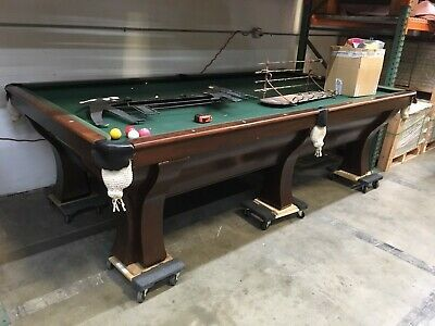 Snooker Pool Table Brunswick Rochester Refurbished 10 Foot Snooker Table Snooker Pool Table Snooker Table Pool Table