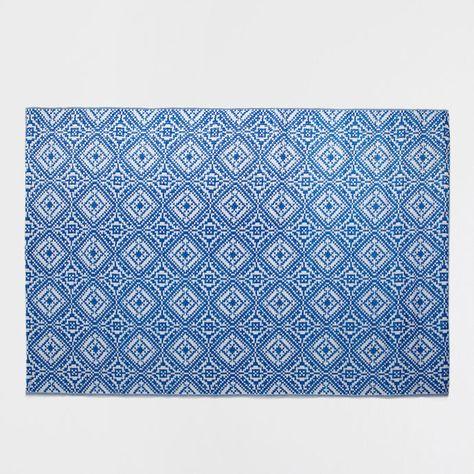 tapis plastique motif bleu intrieur et extrieur tapis dcoration zara home