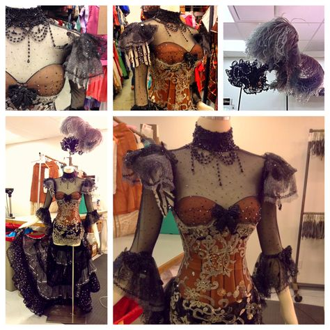 """Costume Designed by Gregg Barnes for the 2011 Kennedy Center production of """"Follies"""".  www.tdf.com/costumes #costume #showgirl #costumedesign #design"""