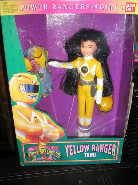 POWER RANGERS For Girls YELLOW TRINI Action Figure By Bandai NRFB #Bandai