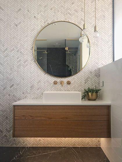 Mintsix Interiors Dunedin New Zealand Modern Bathroom Design