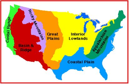 Regions Of The United States Teaching Geography Map Skills - The great plains on us map
