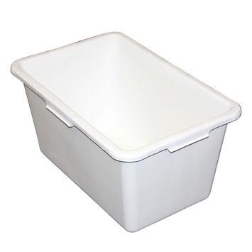 Stuckuip Rechthoekig 45 Liter Wit Wit Handvat