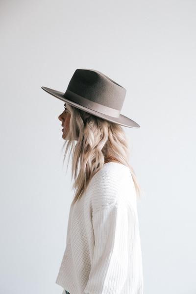 a26bc043018bd GIGI PIP Hats for Women- Monroe Grey - Women's Rancher Hat-Felt Hats