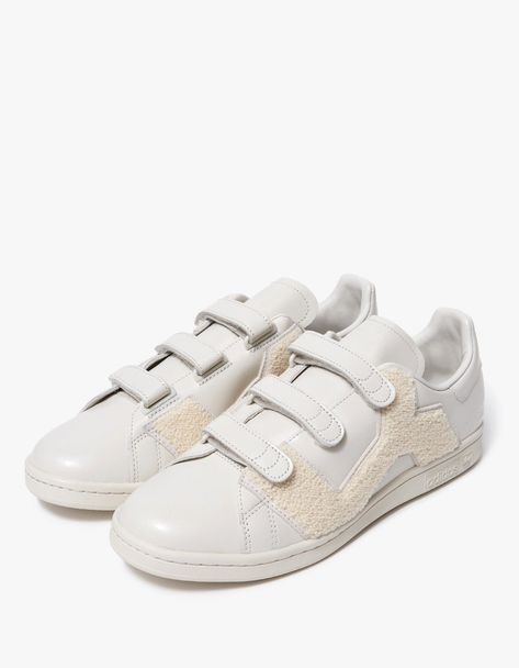 quality design 048e2 48c2f Adidas x Raf Simons   Raf Simons Stan Smith Comfort Badge in Talc