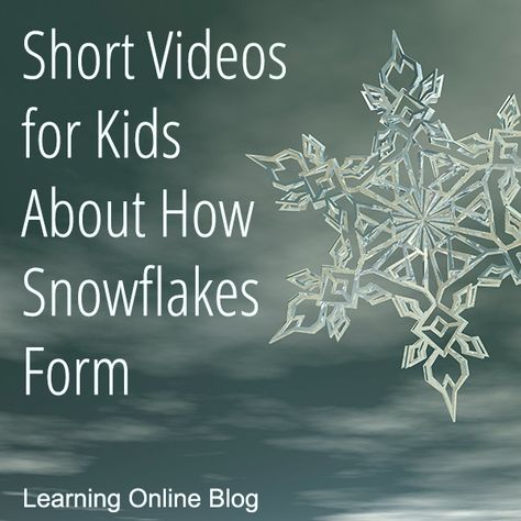 Your kids can learn how snowflakes form from these short videos. Kindergarten Science, Science Classroom, Teaching Science, Science Education, Science For Kids, Science Activities, Science Projects, Physical Education, Snow Activities