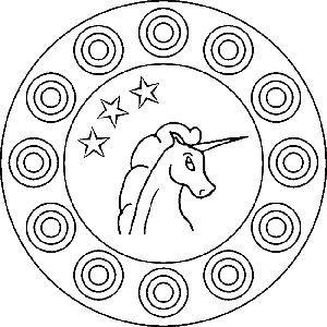 Mandala Vorlagen Von Einem Einhorn Gratis Malvorlage Fur Kinder Mandala Coloring Pages Mandala Coloring Mandala
