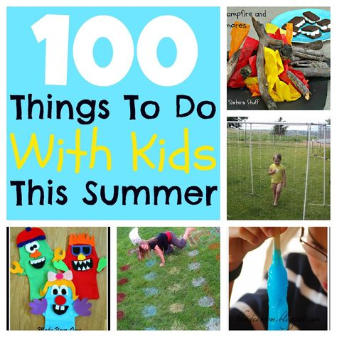 Beat the summer boredom blues! Here are100 Things To Do With Your Kids This Summer! SixSistersStuff.com #summer #kids