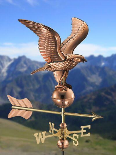 Eagle Cottage Copper Weathervane W Roof Mount Gardeners Com In 2020 Pure Copper Weathervanes Weather Vanes