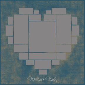Heart Photo Collage Template Psd Wedding Gift Anniversary Gift Valentine S Day Gift Gift For Her Size 40 X40 20 X20 10 X10 Heart Photo Collage Photo Collage Template Photo Heart