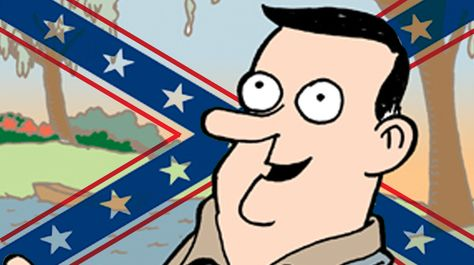 Confederate Flags And Banners