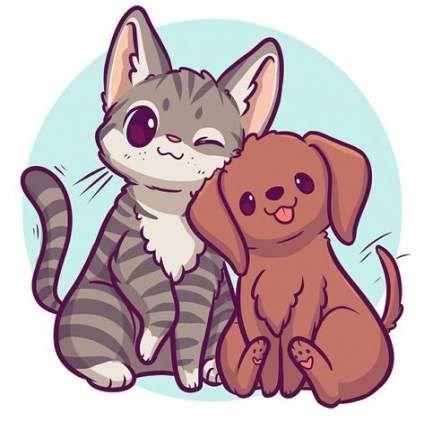 Super Drawing Cartoon Dog Art 51 Ideas Cat And Dog Drawing Kitten Drawing Cute Animal Drawings Kawaii