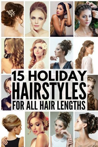 15 Holiday Hairstyles For All Hair Lengths Holiday Hairstyles Easy Holiday Hairstyles Party Hairstyles Medium