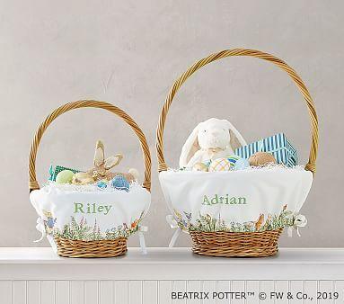 POTTERY BARN KIDS BEATRIX POTTER PETER RABBIT EASTER BASKET LINER Various Names