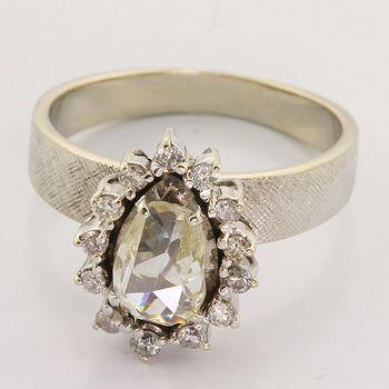 Rose Cut VS Diamond 14K White Gold Ring, $799.00.