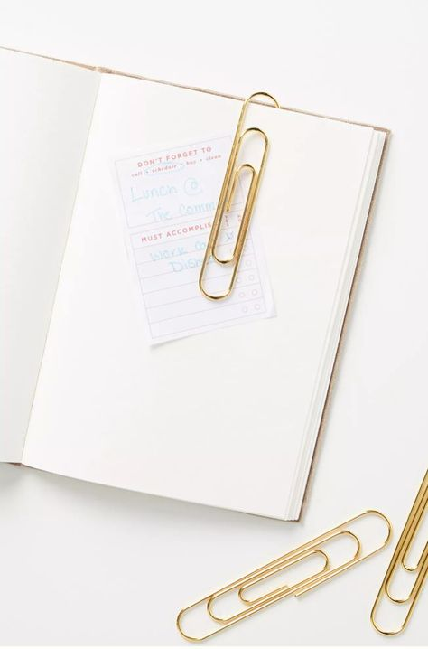 These giant paper clips are perfect for hanging up pieces of paper, showcasing photos, or marking pages in a book or planner. From Anthropologie.
