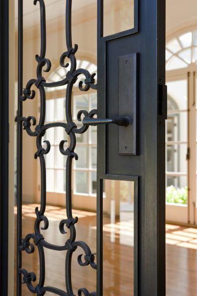 How To Clean Wrought Iron Doors With Images Wrought Iron Doors