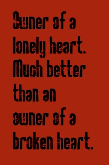 yes owner of lonely heart перевод