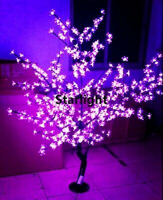 Ad Ebay Url 5ft 1 5m Led Cherry Blossom Tree Changing Colors Via 21 Button Remote Controller In 2020 Cherry Blossom Tree Blossom Trees Christmas Tree Lighting