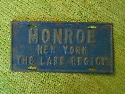 Details About Vintage Monroe New York The Lake Region License