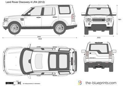 Land Rover Discovery 4 Lr4 Vector Drawing Land Rover Discovery