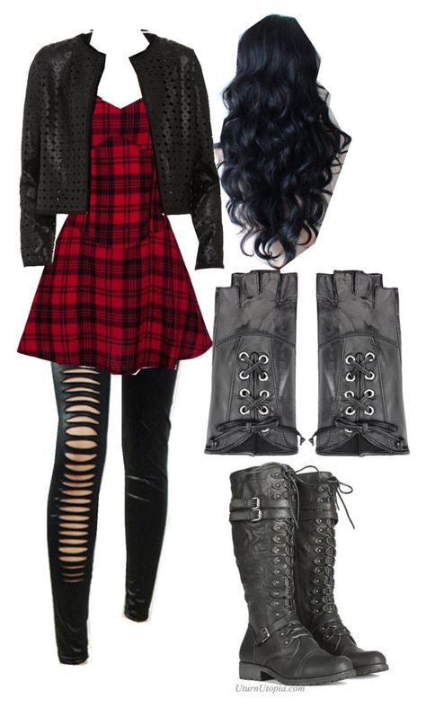 could wear while doing Mother Gothel video Cute Emo Outfits, Bad Girl Outfits, Scene Outfits, Teenage Girl Outfits, Punk Outfits, Girls Fashion Clothes, Teen Fashion Outfits, Teenager Outfits, Swag Outfits