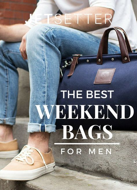 We hate to break it to you, guys, but when it comes to traveling in style, your ratty gym bag/college-era duffel isn't going to cut it. What will? These 13 sophisticated weekend bags. Sturdy, spacious, and hella handsome, they'll instantly elevate all your airport looks. Read on.