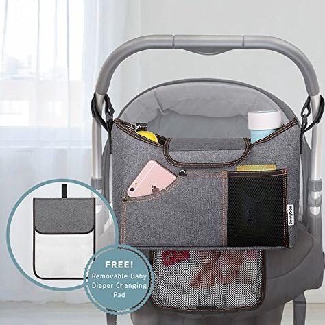 Buggy Organizer Kinderwagen Tasche Mit Getränkehalter Kinderwagentasche
