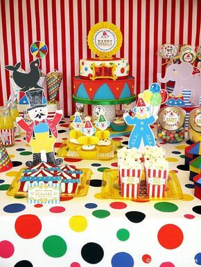 Animal Birthday Theme Carnival Party Supplies Carnival Circus Party Tableware Set Circus Animal Birthday Kids Birthday Party Clown