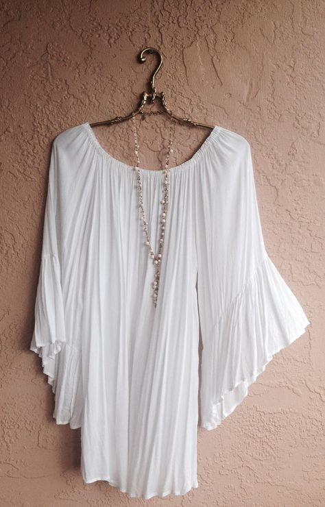 Cape sleeves beach dress Butterfly sleeves gypsy