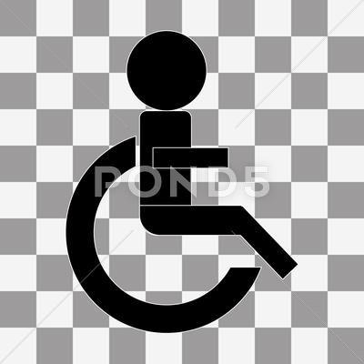 Wheelchair Handicap Icon Vector On A Transparent Stock Illustration Ad Icon Handicap Wheelchair Vector In 2020 Logo Design Typography Transparent Vector