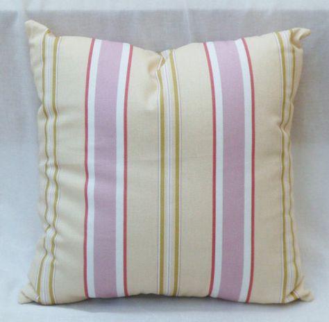 Cuscini Righe.A Righe Cuscino Rosa Verde Giallo Bianco Di Cotone Cuscini
