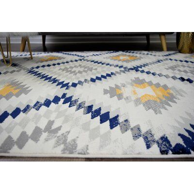 Frankie Ivory Area Rug Blue And Yellow Living Room Blue And Mustard Living Room Navy Blue And Grey Living Room