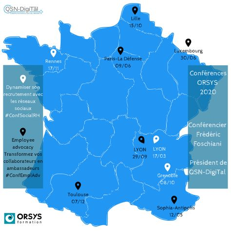 *Conférences* / Programme 2020 des conférences ORSYS animées par Frédéric Foschiani – CEO de QSN-Digital